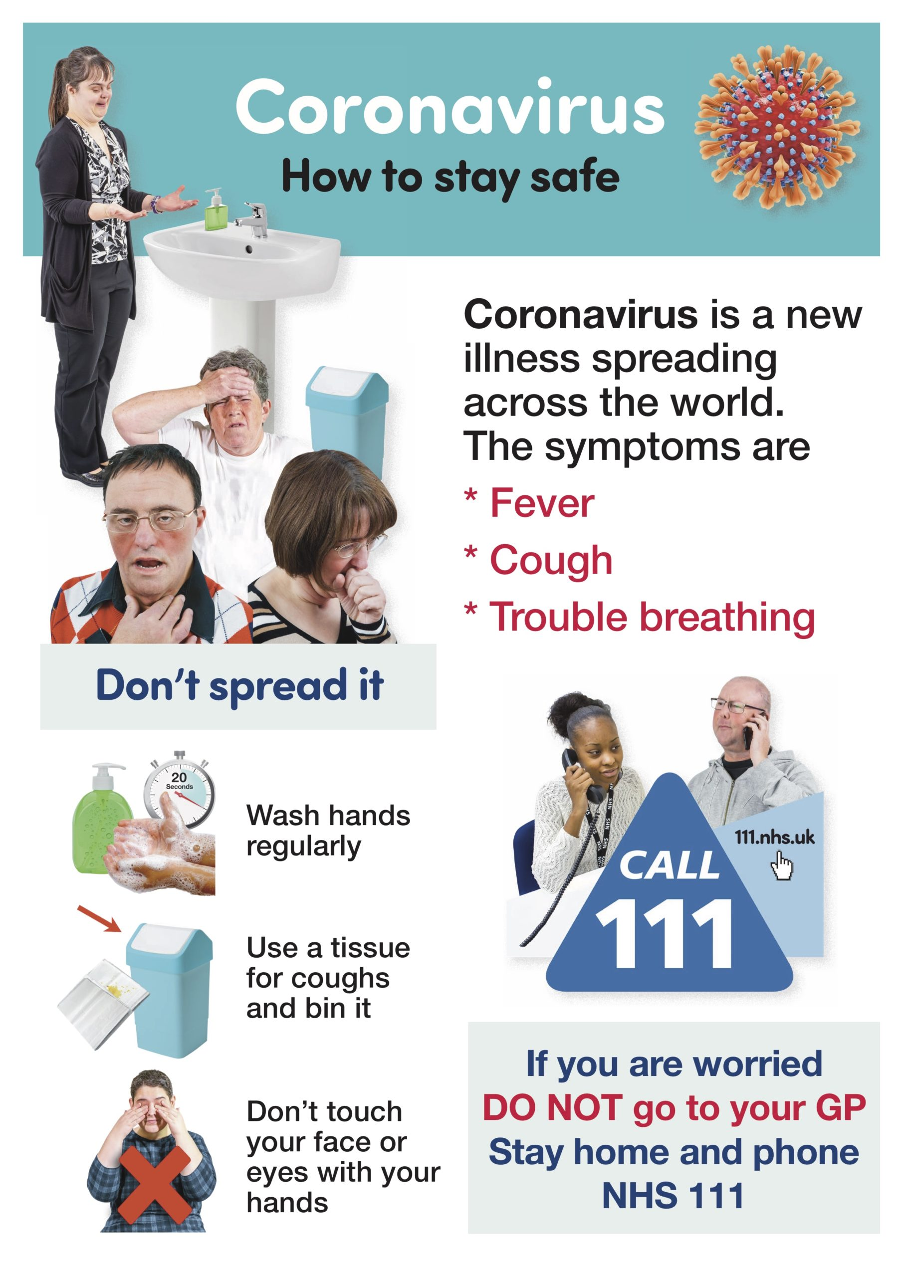 Coronavirus-Poster-How to stay safe-easy read